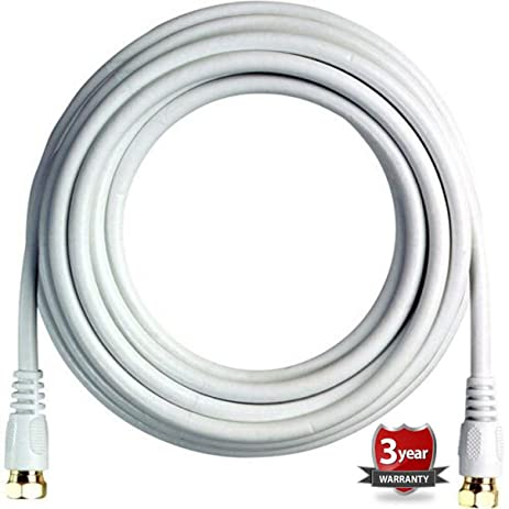 BoostWaves 12ft Rg6 High Definition HDTV Satellite White Coaxial Cable - Low Loss