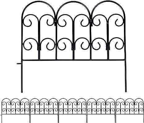 Divisori Da Giardino Metallo.Set Di 5 Recinzioni Decorative Da Giardino 45 7 X 40 6 Cm Rivestite In Metallo