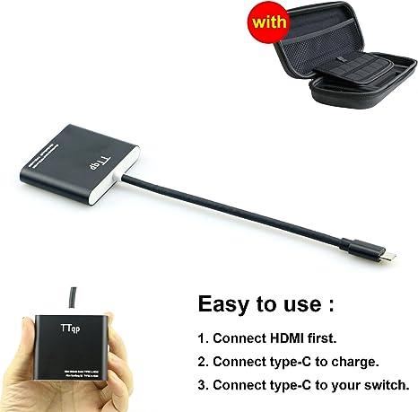 TTqp.tech HDMI Tipo C Adaptador para Nintendo Switch, Cable Convertidor HDMI para Nintendo Switch [video game]: Amazon.es: Videojuegos