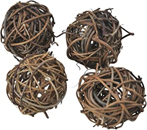Ougual 10pcs Wicker Dried Vine Balls Table Wedding Party X-mas Garden Decoration Diameter 1.6 Inch