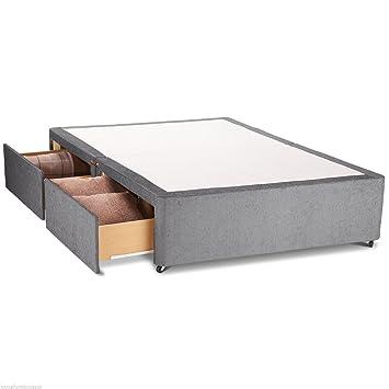 Hf4you Chenille Cama con canapé Base - sin cabecero de Cama - 2 cajones, Beige, 121 cm: Amazon.es: Hogar