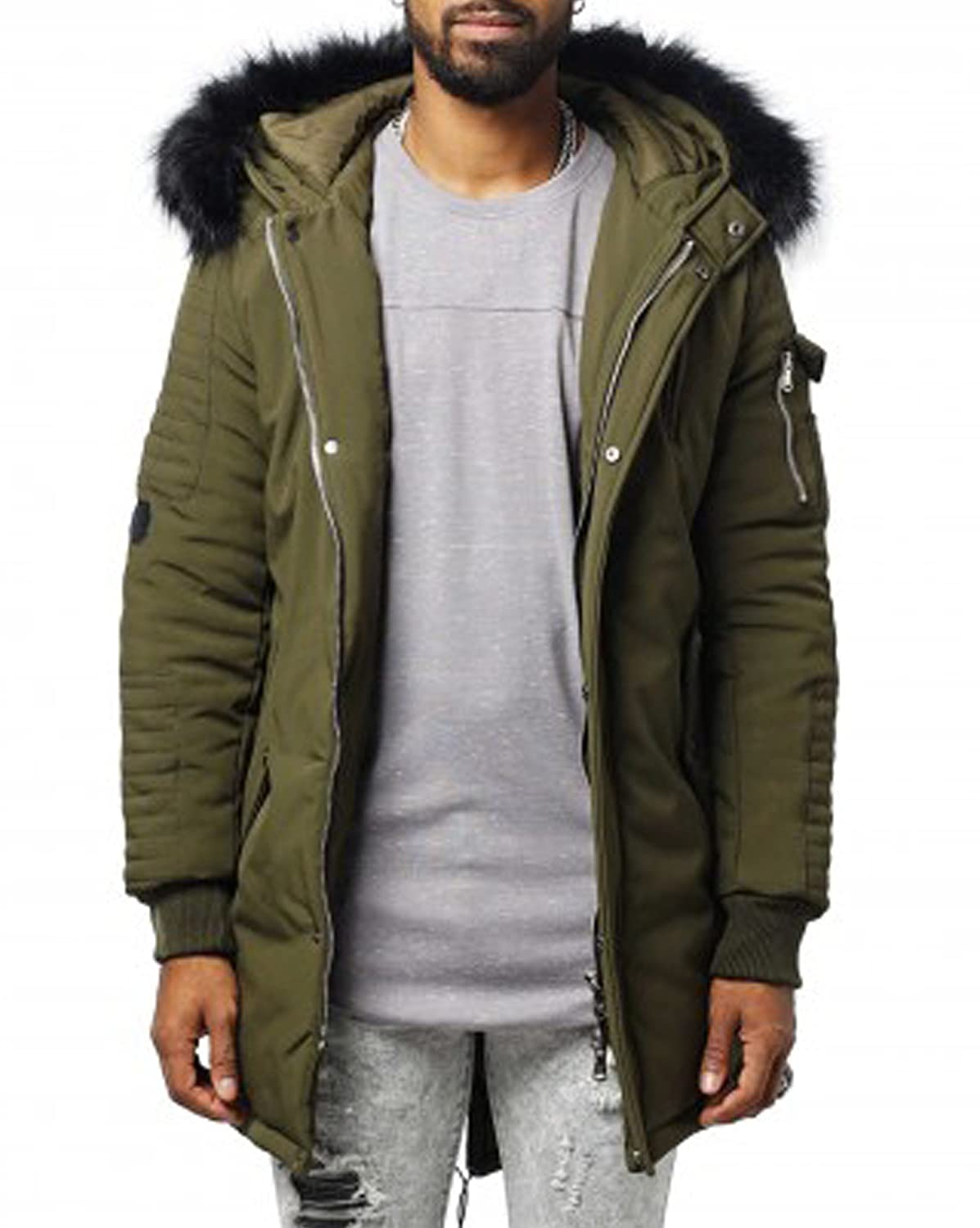 Project X - Winter parka man street khaki