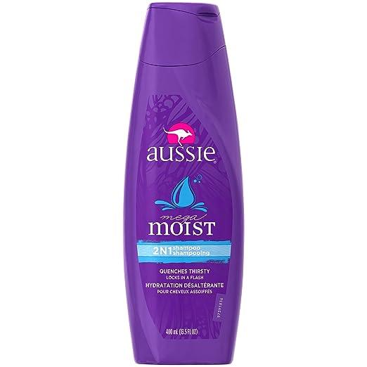 Aussie Mega Moist 2-In-1 Shampoo 13.5 oz (Pack of 5)