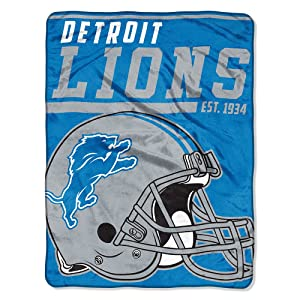 The Northwest Company Detroit Lions NFL Micro Raschel Blanket (40-Yard Dash Series) (46in x 60in)