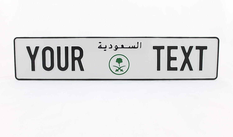 Kingdom of Saudi Arabia KSA Arabic Euro European License Plate Embossed Custom