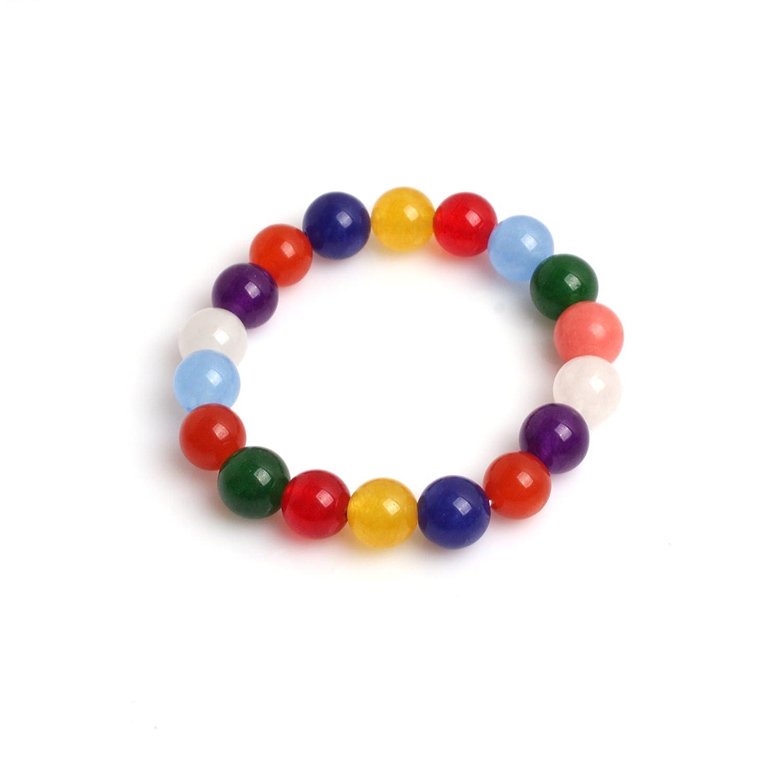 The Jewellery Factory Amethyst Colour Murano Style Bead Bracelet of Length 23.5 cm 9tWsHtIbv