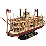 CubicFun 3D Vessel Puzzle Ship Models Toys Building Kits, US Worldwide Trading Mississippi Steamboat