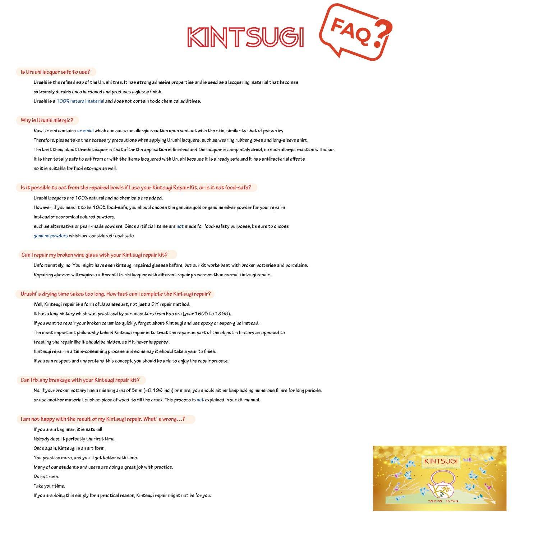 Kintsugi Repair Kit - Japanese Urushi Lacquer from Japan, Kintsukuroi by Mejiro Co. (Image #9)