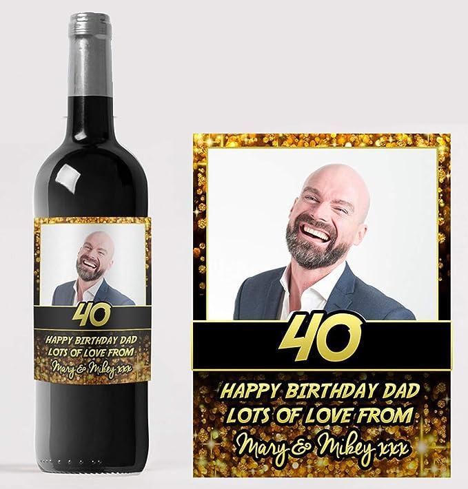 Etiqueta personalizada para botella de vino con texto en inglés «Congratulations»: Amazon.es: Hogar