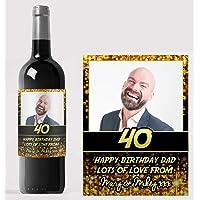 Etiqueta personalizada para botella de vino con texto
