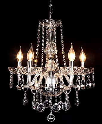 crystop french empire crystal ball pendant candle chandelier lighting with 5 lights