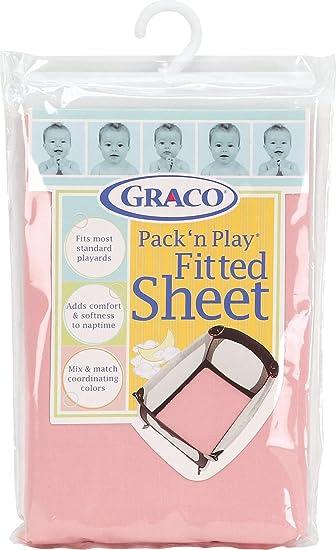 Amazon.com : Graco Pack 'n Play Playard Sheet, Pink : Playard Sheets