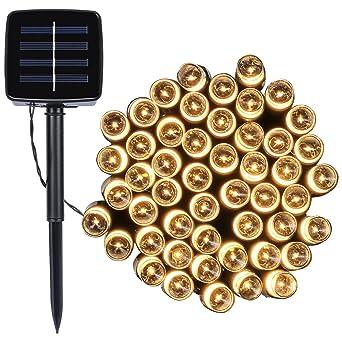Led Solar Lichterkette 12m 100led 8 Modes Wasserdicht