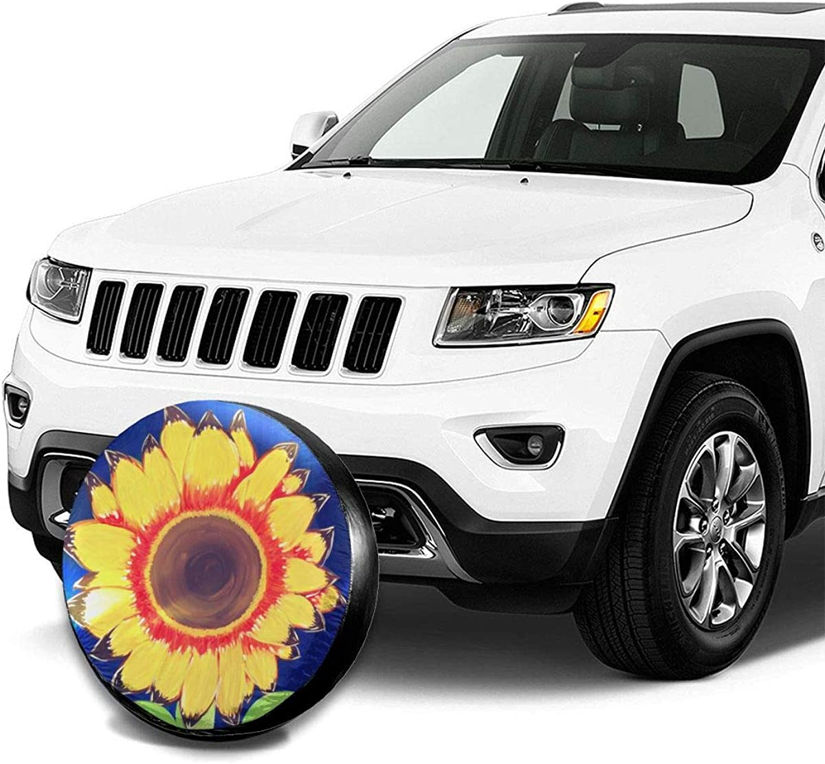 14, 15, 16, 17 inch INYANIDI Spare Tire Cover Sunflower ...