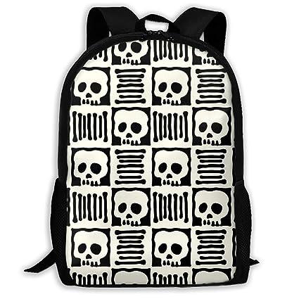 4ea3412cf4ac Amazon.com: YISHOW Black White Doodle Skull Boys Girls for School ...