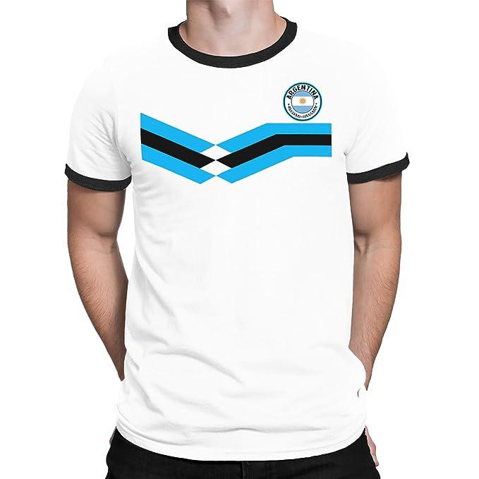 Tee Spirit Argentina Camiseta Para Hombre World Cup 2018 Fútbol New Style Retro: Amazon.es: Ropa y accesorios