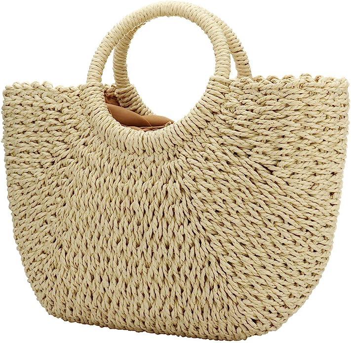 andbags Tote Bags Handbag Wicker Rattan Bag Shoulder Bag Shopping Straw Bag O1I1