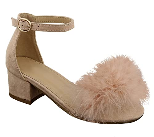 d0dc135ade1 Top Pink Ashley Faux Leather Fur Round Open Toe Cut Out Slipon Low ...