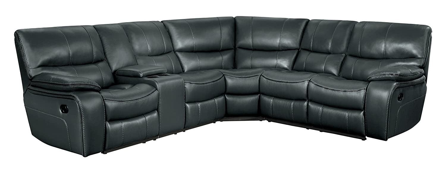Amazon.com: Homelegance Pecos 3 Piece Reclining Sectional Sofa with ...