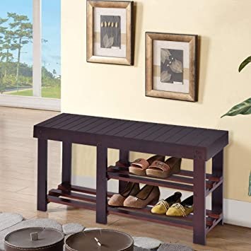 Groovy Kovalenthor Shoe Shelf For Boots Wooden Shoe Bench Boot Storage Shelf Shoe Rack Bench 3 Tier For Hallway Bathroom Living Room Corridor Kitchen And Ocoug Best Dining Table And Chair Ideas Images Ocougorg