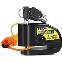 Tchipie Candado Moto con 110dB Alarma, Antirrobo Candado de Disco Moto con 1.5M Cable para Moto Motos Bicicletas…