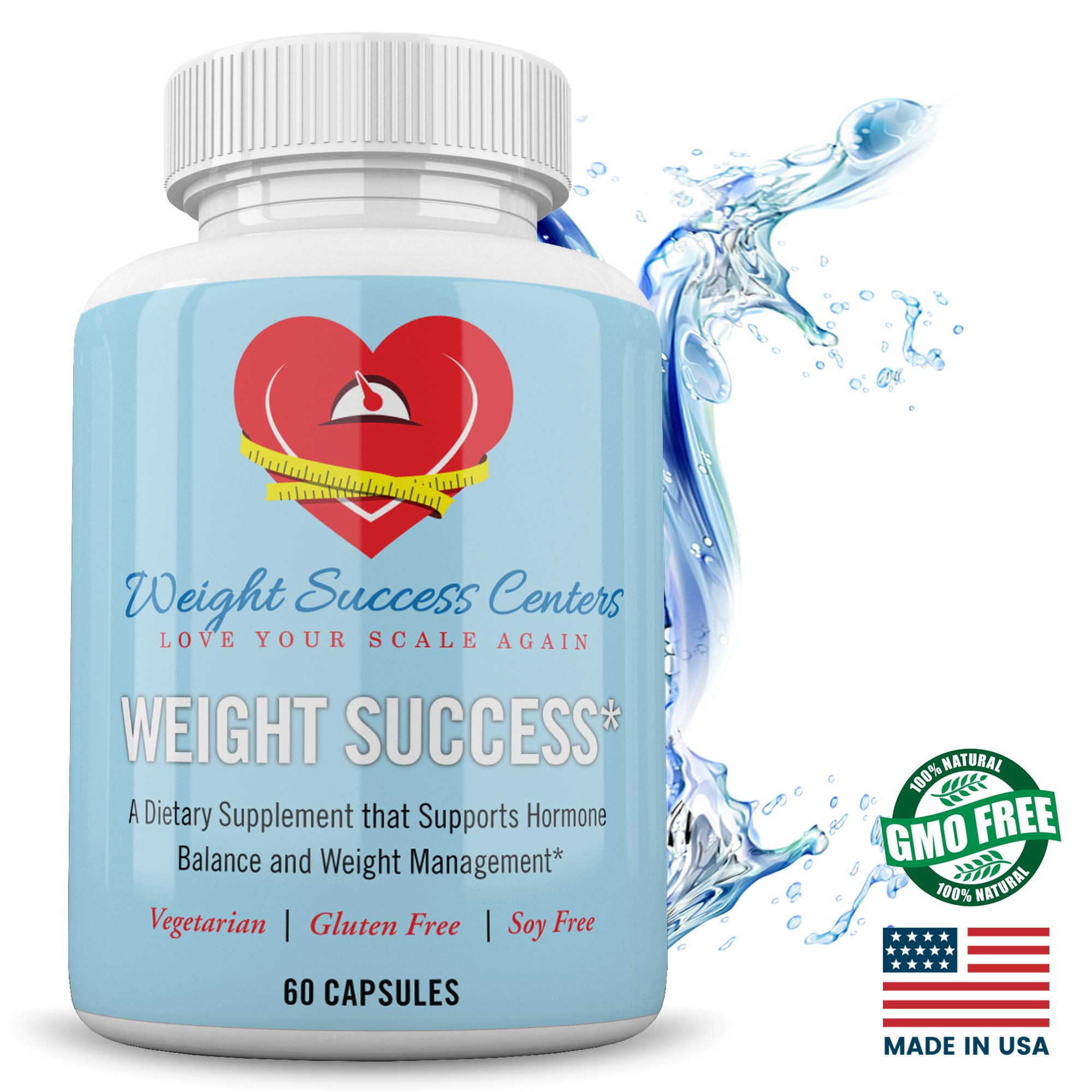 Weight Success Fat Burning Pills - Weight Loss Supplements - Natural Extract Dietary Supplements - Vegetarian Friendly Soy Free Gluten Free Diet Pills - 60 Capsules by Weight Success Centers, LLC