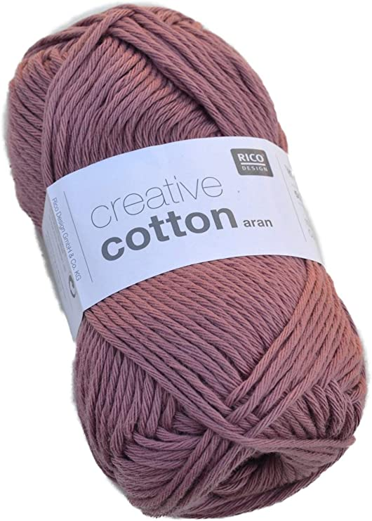 Rico creative cotton aran color 12-malva de algodón hilo para ...