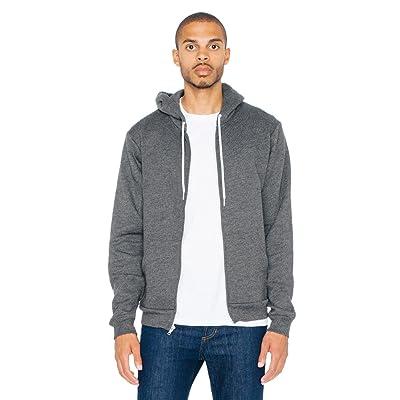 American Apparel Men's Unisex Flex Fleece Zip Hoodie: Clothing