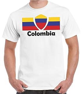 2Store24 Copa del Mundo 2018 Camiseta Hombres Copa del Mundo Fútbol Bandera Todos los…