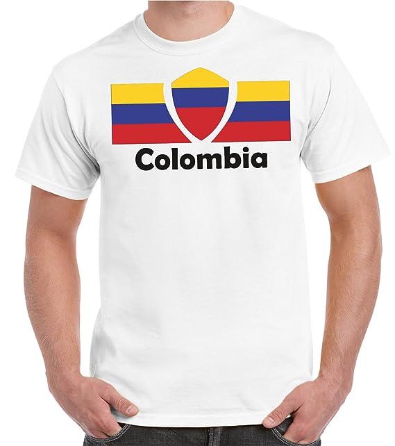 Copa del Mundo 2018 Camiseta Hombre Bandera de Colombia Talla S - 5XL De Gran tamaño