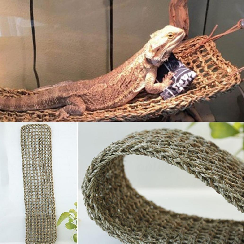 Afco Lizard Reptile Hammock Swing Pet Anoles Geckos Iguanas Toys size 75cm x 18cm (Sea Grass Color)