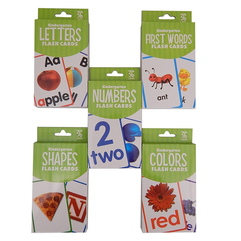 Amazon.com: Kindergarten Flash Cards 5 Set Bundle (Includes ABC ...