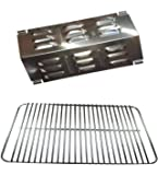 Relishfire Stainless Steel Cooking Grate Replacement for for Weber Gas Go-Anywhere Grill Weber 80631 & Stainless Steel Replacement Flavorizer Bar for Weber Gas Go-Anywhere Grill Weber 9201