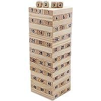 Buy Creative Life Mini Wooden Tumbling Tower 54 Piece 16.5 cm Tall Building Dominoes Blocks