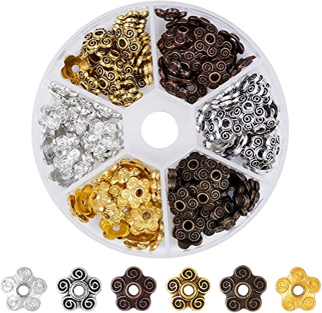 500 x 4 5 6 8mm Metallic Beads Mix Shining Spacers Crafts /& Jewellery Making