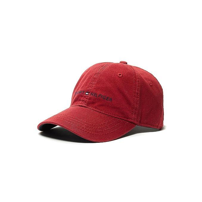Tommy Hilfiger - Gorro para Hombre Ball Cap Rojo: Amazon.es: Ropa y accesorios
