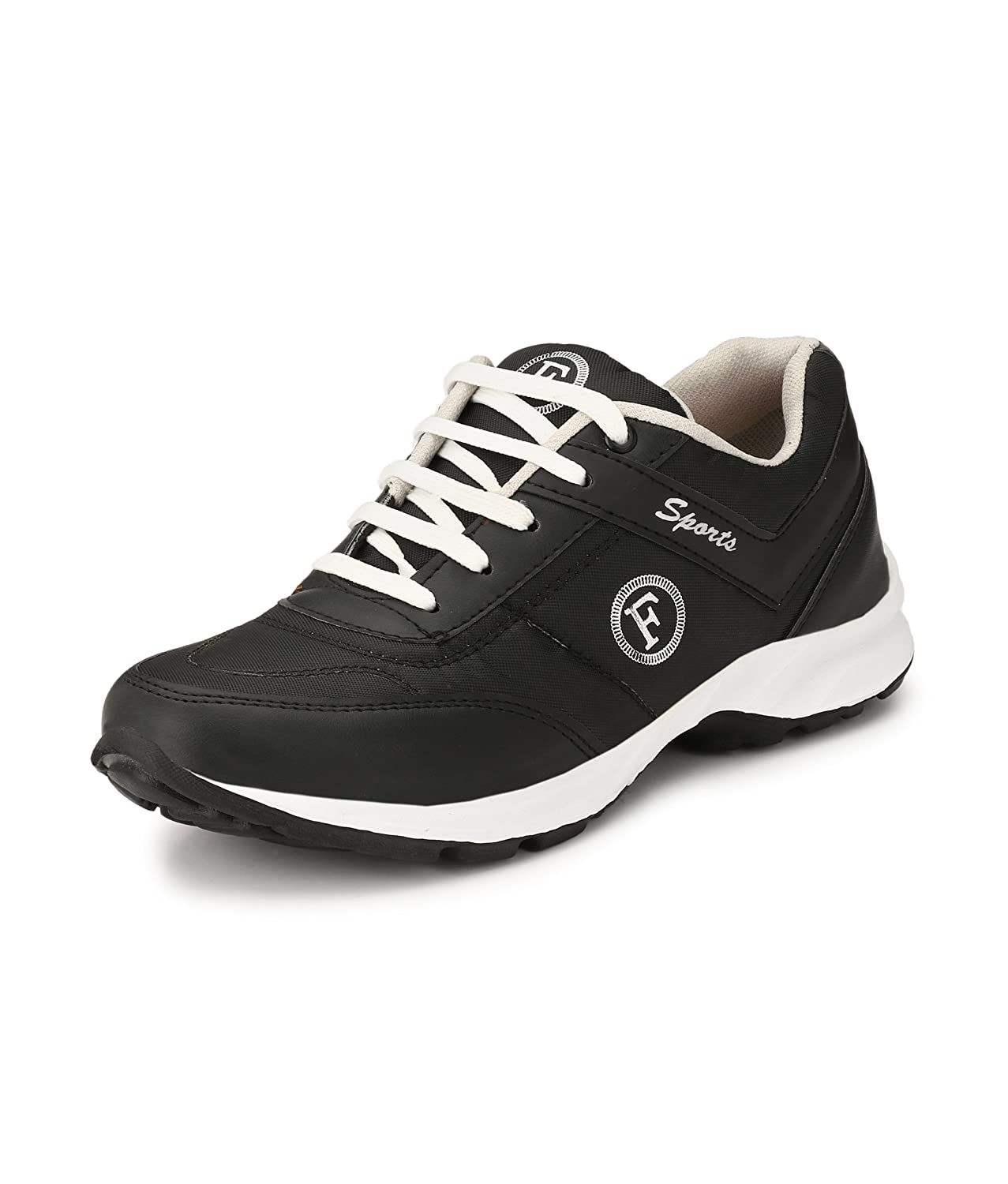 85938c911a6ba1 FUCASSO Men s Synthetic Black Sports Shoes (10 UK)  Buy Online at Low  Prices in India - Amazon.in