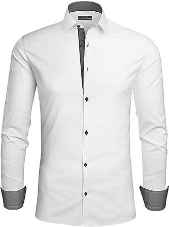 Grin&Bear SH335 - Camisa para Hombre Color Blanco. L: Amazon.es: Ropa y accesorios