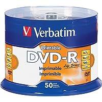Verbatim Life Series DVD-R Printable Disc Spindle, Pack Of 50 98472