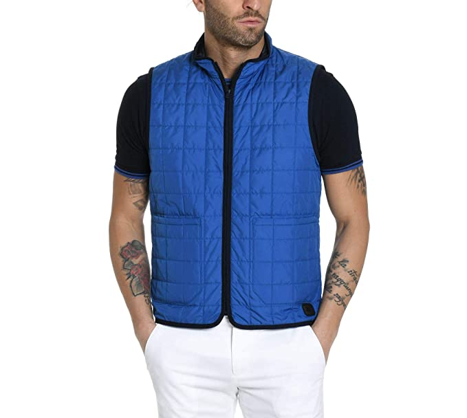 promo code 4cd71 bbb36 Fay Gilet Uomo NAM20380680QUO064E Poliammide Blu: Amazon.it ...