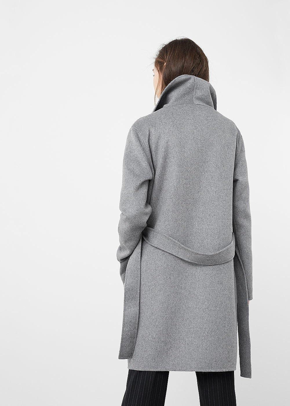 MANGO - Abrigo - para mujer gris gris Large: Amazon.es: Ropa y accesorios
