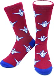 4702028ce04 Origami Paper Cranes Socks by Neon Eaters - Kids   Adult sizes Fun