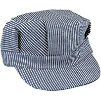 Rothco Adult Hickory Striped Engineer Train Conductor Cap LARGE