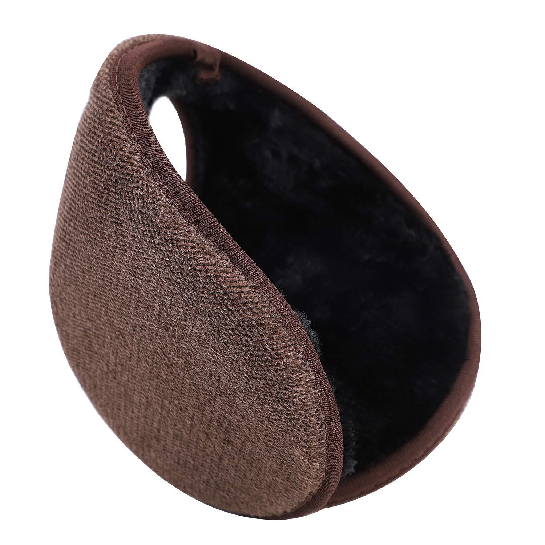 Unisex Winter Earmuffs Furry Foldable Warm Ear Muffs For Women Men Faux Fur Earmuffs Plush Head Band Soft Outdoor Ear Warmers Wraparound Solid color Winter Ear Muff Wrap Earmuffs