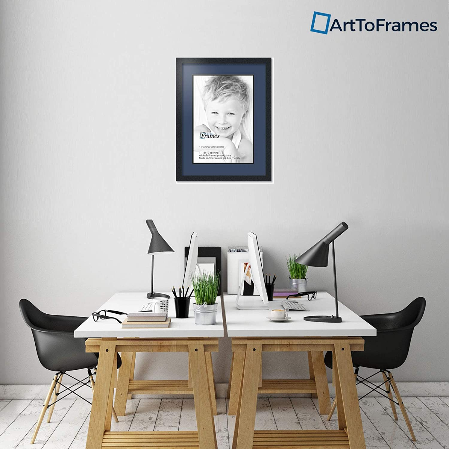 Art to Frames Double-Multimat-648-837//89-FRBW26079 Collage Photo Frame Double Mat with 1-13x19 Openings and Satin Black Frame