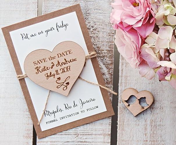 342787d1e80ba Wedding Wood Save-the-Date Magnet, Custom Heart Save-The-Date Magnet, Heart  Wood Magnet, Heart Magnet, Wooden Magnet, Save The Date Magnet, Wooden ...
