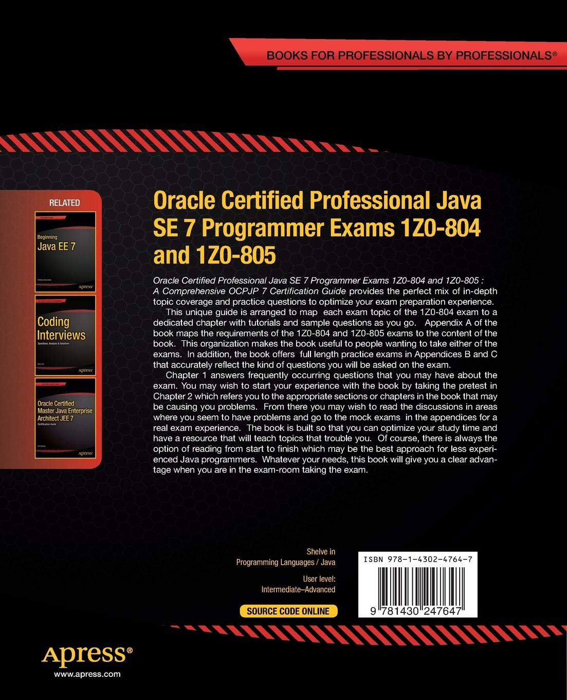 Amazon Oracle Certified Professional Java Se 7 Programmer Exams