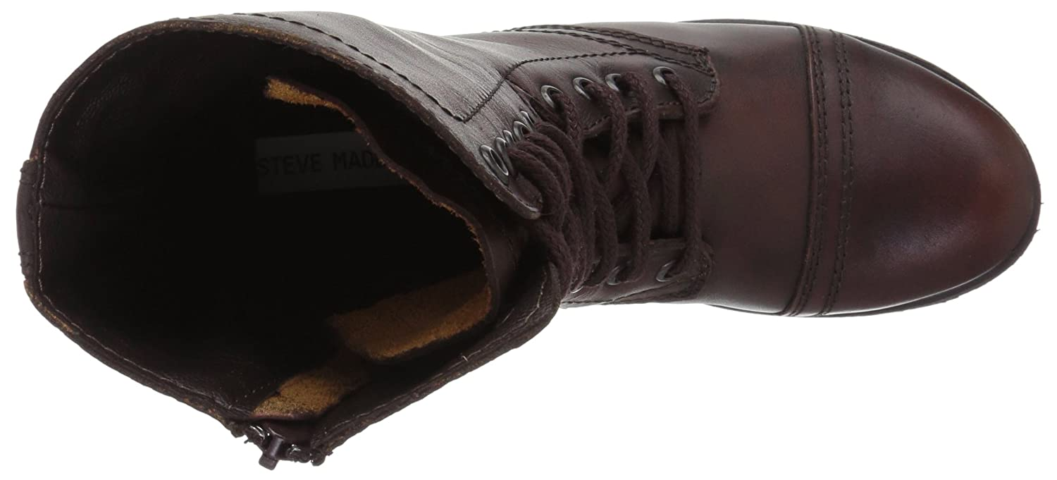 Steve Madden Women's Troopa Lace-Up Boot Leather B007CWKOFA 9 B(M) US|Brown Leather Boot 622666