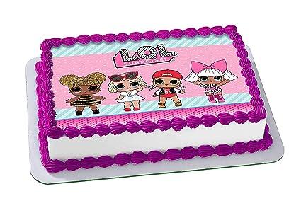 Amazon Com L O L Surprise Edible Cake Topper Birthday 1 2 Sheet