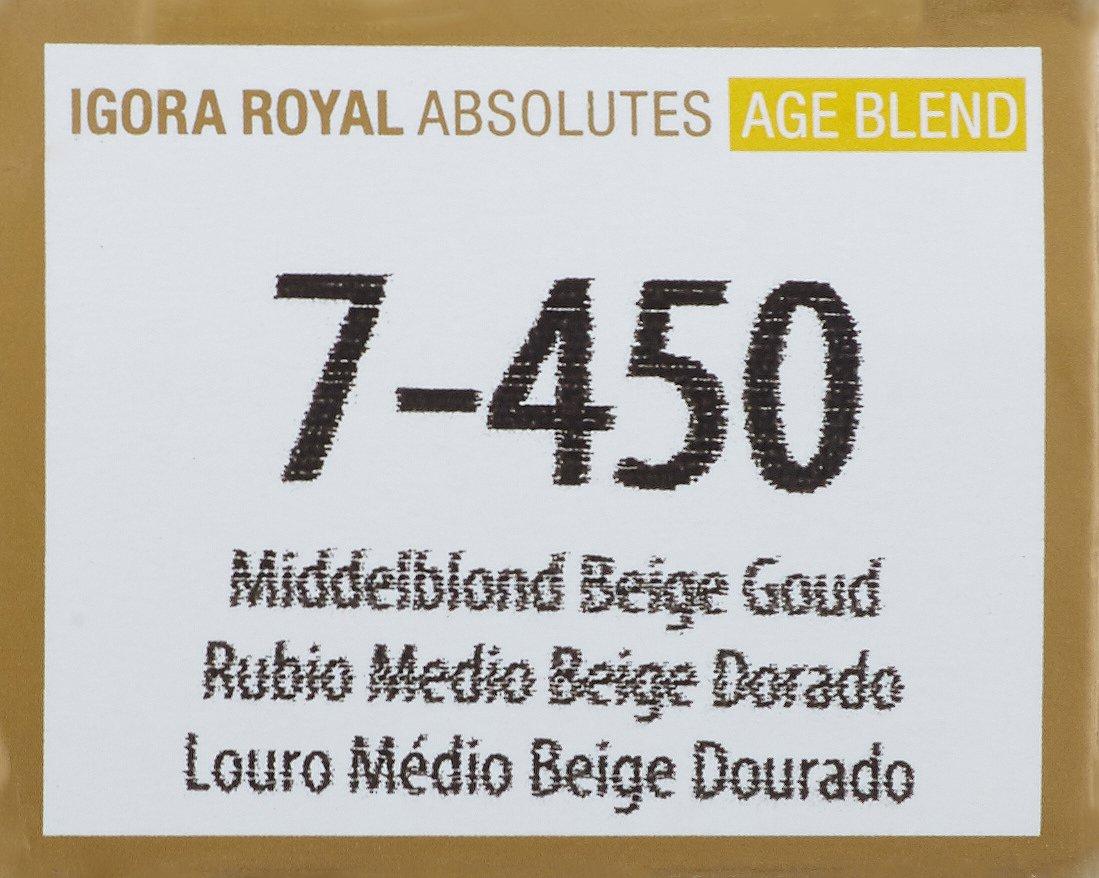 Schwarzkopf Igora Royal Coloración Permanente en Crema para el Cabello 7-450 - 60 ml.